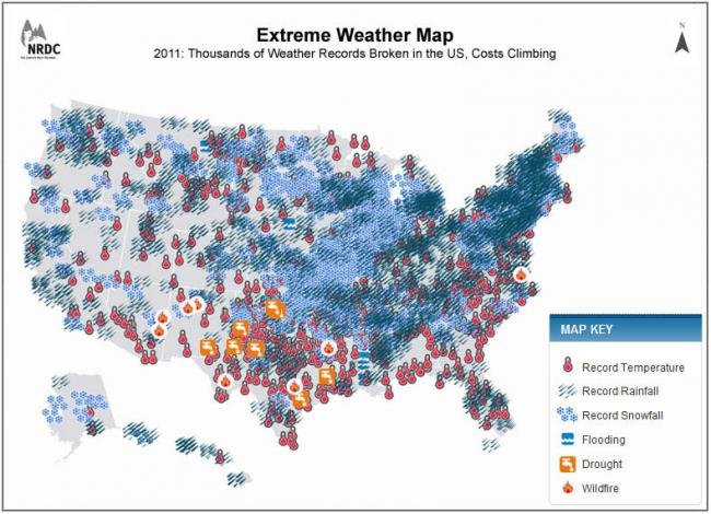 Extreme Weather Map