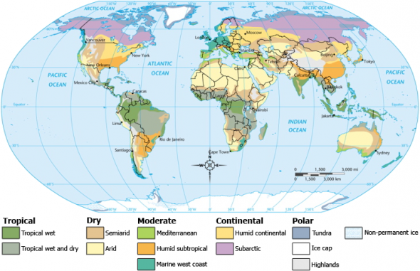 Map of Global Climate Classifications