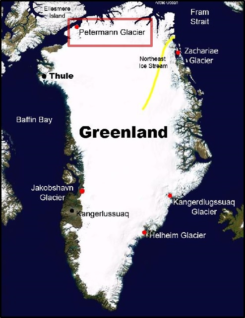 Location of Petermann Glacier