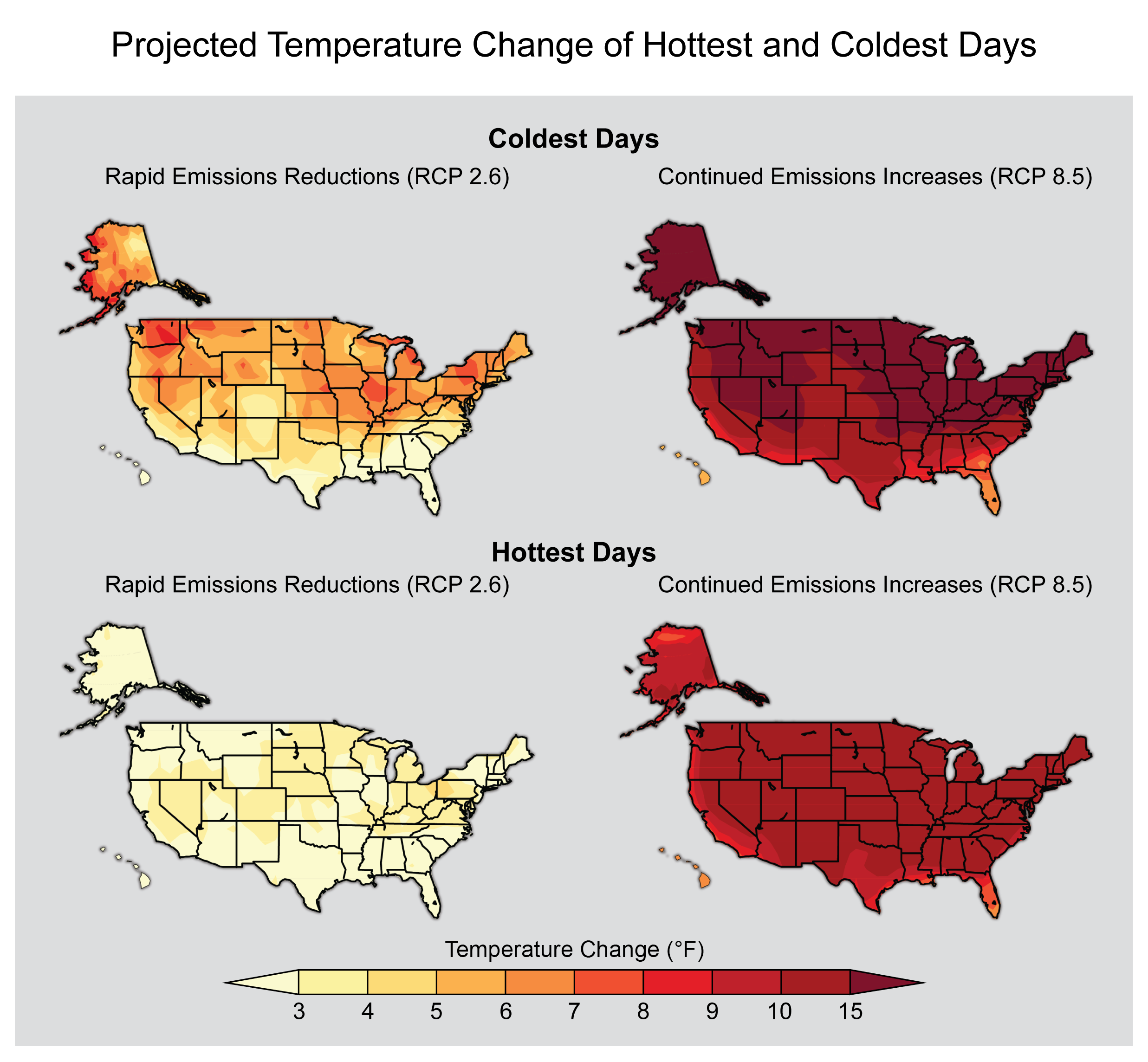 Projected Hot and Cold Days
