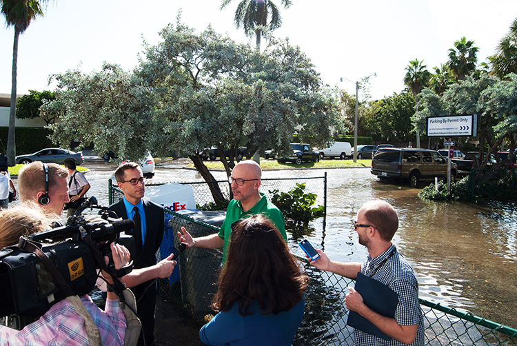 Congressman Ted Deutch discussing King Tide