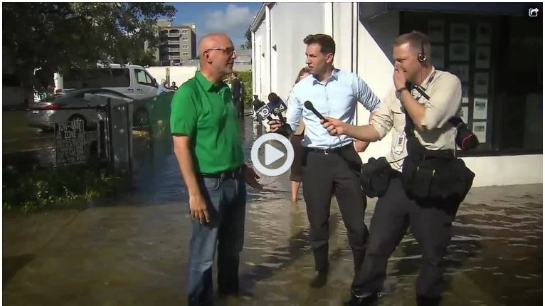 Ted Deutch being interviewed about King Tide