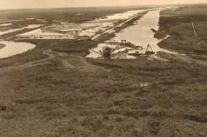 Channelizing Kissimmee River , 1965