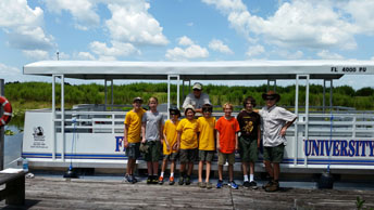 Pontoon Student Field Trip